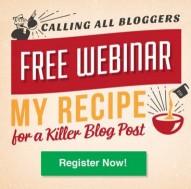 Recipe for a killer blog post